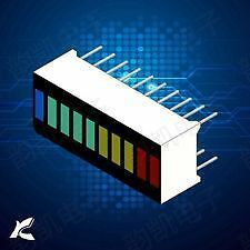 10 Segment Led Bargraph Light Display Red Yellow Green Blue 4 Colours