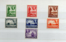 ANTIGA KGV 1930 TERCENTENARY 7 DIFFERENT MINT HINGED STAMPS
