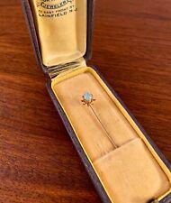 Art Nouveau 10K Yellow Gold Stick Pin W/ Opal Cabochon .7G