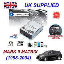Matrix 1998-2004 mp3 USB SD CD AUX Input Adattatore Audio Digitale Caricatore CD Modulo