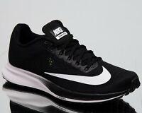 Nike Women's Air Zoom Elite 10 New Running Shoes Black White Volt 924505-001