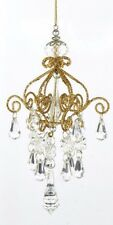 KURT S. ADLER GOLD GLITTERED CHANDELIER CHRISTMAS TREE ORNAMENT STYLE 1