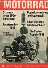 M6903 + Klüglich Drehschieber-Rennmotoren + Brüder Villa + Das MOTORRAD 3/1969