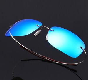 Ultra Light Hingeless Rimless 100% β-Titanium Polarized Sunglasses Shades