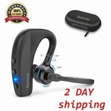 Trucker Wireless Mic Blue Parrot Bluetooth Noise Cancelling Headset Earpiece New