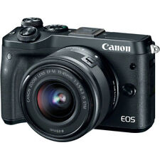 Canon EOS M6 Mirrorless Digital Camera - Black with 15-45mm Lens