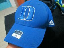 DUKE BLUE DEVILS NCAA BLUE S/M ADIDAS HAT CAP NWT FLEX CURVe BRiM