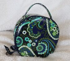 Vera Bradley ~ Hatbox Cosmetic ~ Rhythm And Blues ~ ADORABLE case ~ NEW