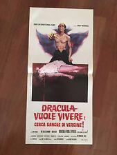 LOCANDINA,s/8 Dracula cerca sangue di vergine.Andy Warhol Blood,Dallesandro Sex