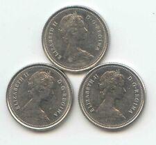 Canada 1980 1981 1982 Canadian DIME Ten Cents 10c Exact Coin Set Shown ~