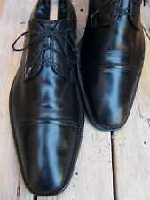 TO BOOT NEW YORK Mens Dress Shoes Black Leather Cap Toe Italian Oxford Size 8.5M