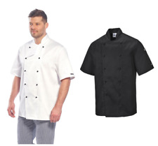Portwest Kent Chefs Twill Jacket Detachable Buttons Catering Work Apron C734