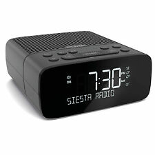Pure Siesta S2 DAB and FM Bedside Alarm Clock Radio Graphite VL-62960