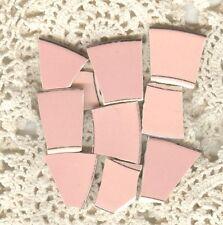 Pink Pastel Solid and Embossed Fruit & Flower Broken China Mosaic Tiles