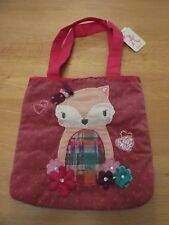 NEW Accessorize Angel Pink Corduroy Fox Bag ~PRESENTLY NOT AVAILABLE IN LOCK UP