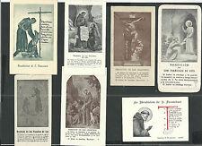 7 Estampas antigua de San Francisco de Asis andachtsbild santino holy card