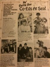 Co-Eds at Sea, Brooke Theiss, Billy Warlock, Full Page Vintage Clipping