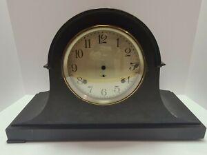 Antique SETH THOMAS Mahogany Deco Tambour Humpback Mantel Shelf Clock Case