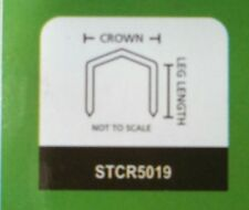 "5,000 Staples Fit Stanley Bostitch Hammer Tacker 3/8"" Leg Stcr38 #111914"
