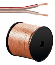 100m (2 Rings Of 50m) 2 X 2.5MM SPEAKER CABLE Copper Clad  AUDIO WIRE FIG 8