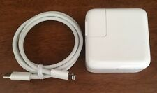 Original APPLE MacBook 29W USB-C Power Adapter/Charger with USB-C to Lightning