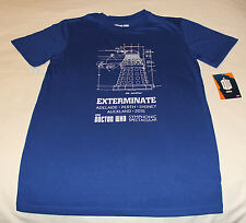 BBC Doctor Who Dalek Mens Blue Printed Short Sleeve T Shirt Size XS New