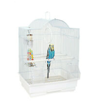 More details for rainforest panama small white bird cage budgie canary finch travel transport