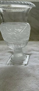 LALIQUE VERSAILLES VASE CLEAR CRYSTAL Unsigned