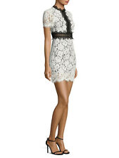 FEW MODA classic bestsell women cute elegant black white two-tone lace dress