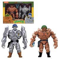 NECA Teenage Mutant Ninja Turtles TMNT Traag & Granitor 2-Pack MISB - In Stock