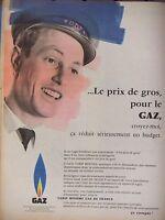 PUBLICITÉ 1959 GDF LE PRIX DE GROS POUR LE GAZ DE FRANCE - ADVERTISING