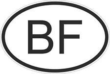 Adesivo adesivi sticker codice auto moto ritagliato  nazioni ovale burkina faso