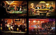 "Marilyn Monroe, Elvis, James Dean All 4 Prints in 1 Canvas Print  A1 30"" x 20"""