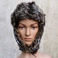 Chapka bonnet chapeau Femme fausse fourrure blanc noir tartan ZAZA2CATS new