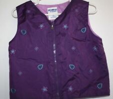 OshKosh Vest Girls size 3T Purple Spring Jacket Coat   -ZZX