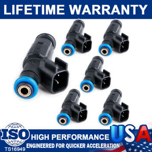 6 Pack Upgrade Fuel Injector 4-Hole For Jeep TJ Cherokee Wrangler 4.0L 1999-2004
