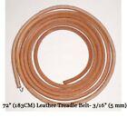 "72"" Leather Belt Singer Treadle Sewing Machine - 3/16"" (5mm)"