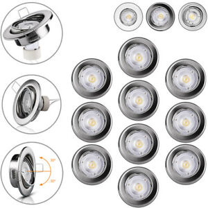 Einbaurahmen Einbaustrahler Einbauleuchten GU10 LED 10x Spots schwenkbar flach