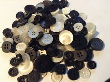 50g Mixed  Buttons, with a Black and White Theme