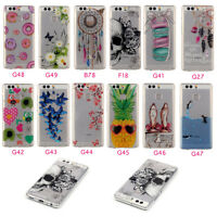 For Huawei Smart Phones Clear Ultra Thin Soft TPU Gel Silicone Back Case Cover