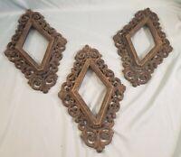 3 Diamond Shaped Mid Century Modern Ornate Frames Burwood Prod Co
