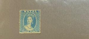 NATAL  9  Beautiful  Mint  No  Gum  VICTORIA  XF  Value  UT 718
