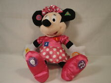 "Disney KCare Talking Minnie Mouse Educational Stuffed Toy 12"" Tall!"