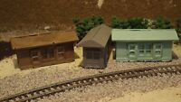N-Scale 3pc Boat House 1:160 Model Train Detail Accessories Unfinished