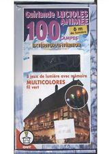Guirlande étanche lucioles multicolore animée 100 lamp decoration lumineuse noel
