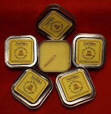 The Naked Bee Beeswax Palm Wax Travel Candle Brand New 5 square candle tins