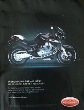 Moto Guzzi Motorcycle Breva 1200 Sport Magazine Advertisement Original Print
