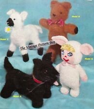 Scottie dog,teddy,lamb & doll  - COPY  toy knitting pattern