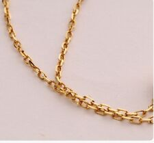 Solid 18K Yellow Gold Chain Necklace/ Perfect Long O Chain Necklace/ 1.1g