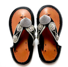 Men's Traditional Handmade Leather Slippers Ghanaian  Men's Shoe Sandals Slipper
